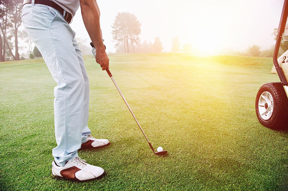 calentamiento para golf